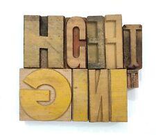 Letterpress Letter Wood Type Printers Block Lot Of 10 Typography Eb 112