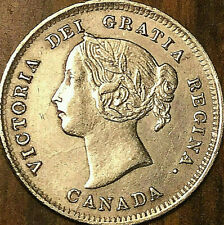 1888 CANADA SILVER 5 CENT COIN - Excellent example!