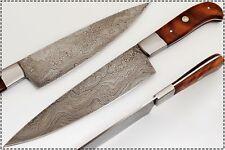 "EST Custom Handmade Damascus 12.5""  Chef Kitchen Knife NEW 002-Wood"