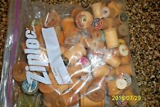 114 Vtg Wooden Spools Sewing No Thread Bare Mixed Lot Of Sizes Makers ~crafts