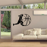 Basketball Player Wall Decor Decal Kid Boys Bedroom Sports Sticker Mural Gift