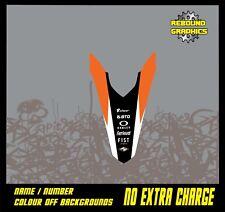KTM SX SXF 50 65 85 125 250 450 Trasero Guardabarros gráficos Mx Pegatina Kit calcomanías RS