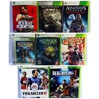 Xbox 360 - Lot of 8 games, Excellent Cond. Complete games w/manuals