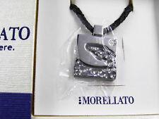 Puerto-diamante anclaje pulsera 108024 acero inoxidable textil negro blanco plata