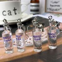1 Pair Creative Ear Clip Earring Vodka Bottle Pendant Women Party Jewelry Funny