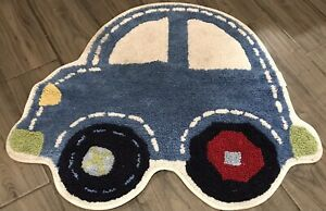 Pottery Barn Kids Car Shaped Rug Multi Colored Bathroom Rug Preowned Good Cond