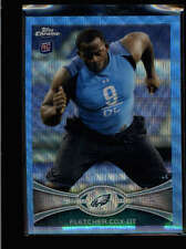 FLETCHER COX 2012 TOPPS CHROME BLUE WAVE REFRACTOR ROOKIE RC #82 AB8676