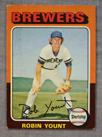 Robin Yount RC HOF MVP Milwaukee Brewers 1975 75 Topps Rookie Card #223