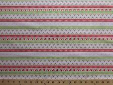 Alpine Wonderland (7 Parallel Stripes) Cotton Fabric Print D783.23