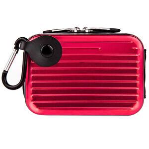 Small Tough Compact Camera Case Bag w/Clip For Nikon COOLPIX W150/Canon ELPH 180
