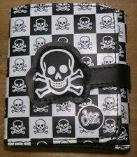 drZ Skull and Cross Bones Leather Wallet w/ Coin Pocket Kevin O'Leary READ E9