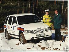 Kia Sportage UK British Police Car Original Photograph 1995 Mint Condition