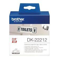 Brother DK Etiquetas dk-22212 (62mm x 15.2m) continuo blanco Película Cinta