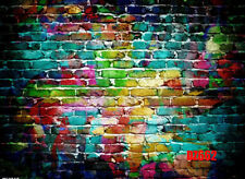 7X5FT Colorful Brick Wall Vinyl Backdrop Photography Studio Props Background