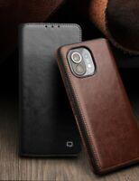 QIALINO Echt Leder Kartenfach Flip Schutzhülle Case Cover f Xiaomi Mi 11/ 10 Pro
