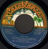"PARLIAMENT ride on/big footin' 7"" WS EX/ NB 843 p.funk usa 1975 casablanca"