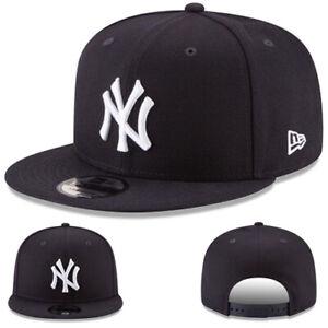 New Era New York Yankees 950 Snapback Hat MLB Basic Navy White Logo Basic Cap