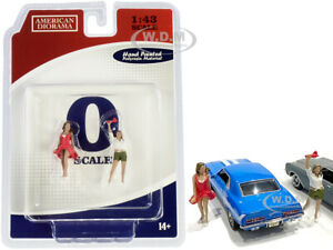 70S STYLE TWO FIGURINES SET IV FOR 1/43 SCALE MODELS BY AMERICAN DIORAMA 38354