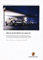 2004 Porsche Cayenne pavement Classic Advertisement Ad A46-B