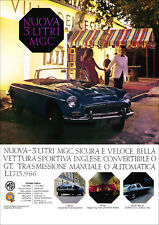 MG MGC ROADSTER RETRO POSTER A3 PRINT FROM CLASSIC 60'S ADVERT