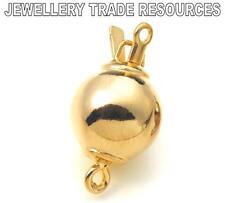 Oro Plata Dorada 8 mm ronda bolas de Perlas Joyas empuje en de cierre rápido Broches