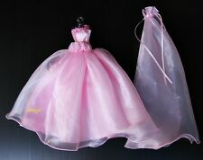 Wedding Gown Party Outfit Handmade Clothes for Barbie Dresses Doll Clothing Pink