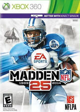 Madden NFL 25 (XBOX 360) NO CASE NO ART EXCELLENT CONDITION SHIPS FAST
