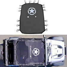Full Bikini Top Net Cover SunShade UV Protection Kit For Jeep Wrangler JK 4-Door