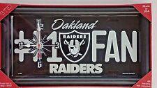 NFL, #1 Fan License Plate Clock, Oakland Raiders, New