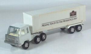 "Vintage 1970s Residence Inn Hotel Moving Semi Truck 10.5"" Pressed Steel Rare"