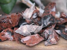 1 x 250gram Bag of Rough Mahogany Obsidian Crystal Pieces - Omni New Age