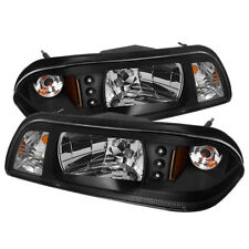 Ford 87-93 Mustang Black LED Headlights Corner Lamps 1-Piece Style GT LX SVT