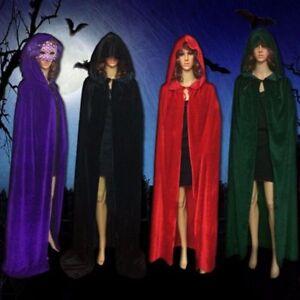 Halloween COS Vampir Umhang Prinz Prinzessin Mantel Kapuze Kostüm Kap Samt BC597