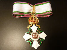 RARE! Bulgaria Order CIVIL MERIT 2 class medal award Knyaz Bulgarian pre1908