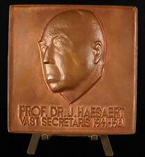 Medaille 1961  Dr J HAESAERT sociologie Koninkrijk België Vlaamse académie medal