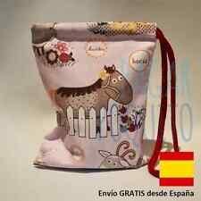 Bolsa bolso juguetes infantil niños hecho a mano guardar merienda regalo navidad