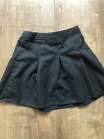F&F 4-5 Years Charcoal Grey Short School Skirt Adjustable Waist