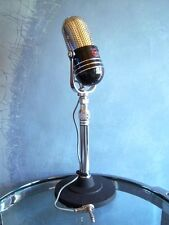 Vintage 1960's Argonne AR-57 crystal microphone pill Japanese old RCA w stand