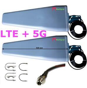 LTE + 5g 3800Mhz Antenne 800 1800 2600MHz 2x 23dBi GEWINN 10M TS9 CRC9 Gigacube