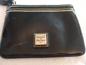 DOONEY & BOURKE COIN CASE, OR  WALLET, BLACK PATENT LEATHER, VERY NICE!!!,