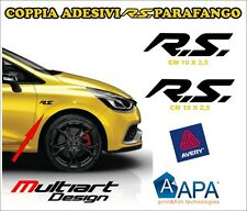 KIT 2 ADESIVI sticker PER NEW CLIO RS  TROPHY, RENAULT SPORT CLIO MEGANE