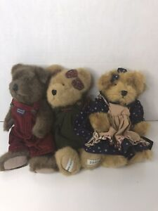 Teddy Bear Bundle Of Three, Russ, Boyds, Country Clutter