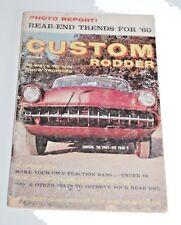 September 1959 Custom Rodder Magazine — Rear End Trends for '60