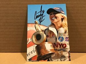 COURTNEY FORCE Authentic Hand Signed Autograph 4x6 Photo - NHRA RACER SEXY