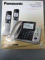 Panasonic Dect 6.0 Corded + 2 Cordless Phone System With Caller ID Answering
