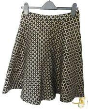 SINEQUANONE Designed Paris Size 10 EU 38 Black Bronze Skirt Designer lagenlook