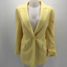 Escada Yellow Single Button Blazer Jacket Size 8