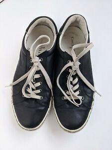 Cole Haan Men Sneaker Black Leather Lace Up Casual Shoe 7.5 us 40 Eu 7 au uk
