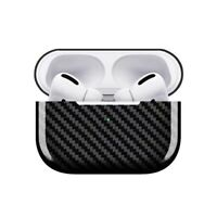 For Apple AirPods Pro Charging Case Real Carbon Fiber Shockproof Rugged Cover