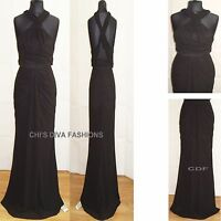 VLABEL LONDON BY VIRGOS LOUNGE 'QUEEN' Halterneck Maxi Dress Sizes 12-18 RRP £79
